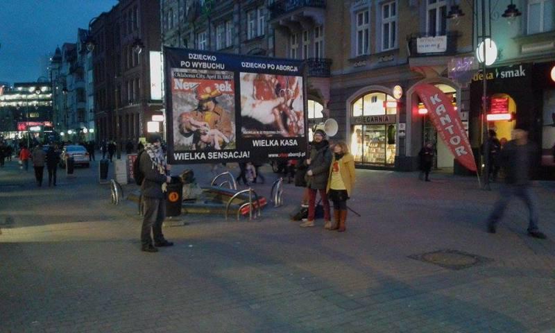 Prawda o aborcji w Katowicach – relacja z pikiety