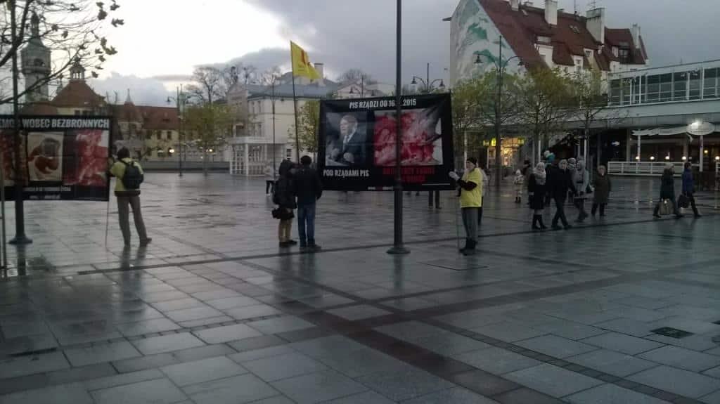 Pikieta w Sopocie